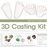 MomsPresent Baby Hands and Feet 3D Casting Print DIY Kit-Clay(White)