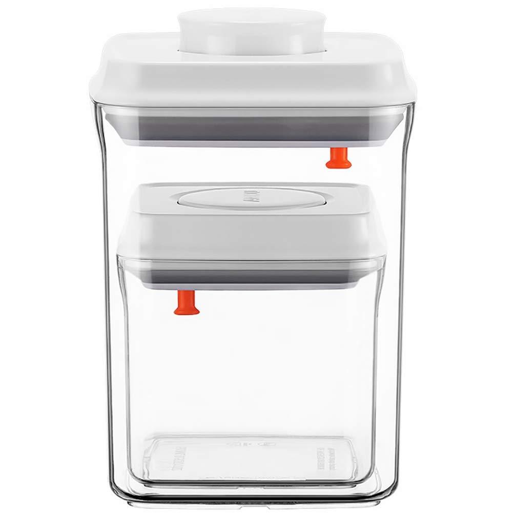 Square Milk Powder Storage Container Set - Cereal and Snacks Storage Container,BPA Free,for Cereal & Snacks Keeps Food Fresh & Dry,1500+500ML