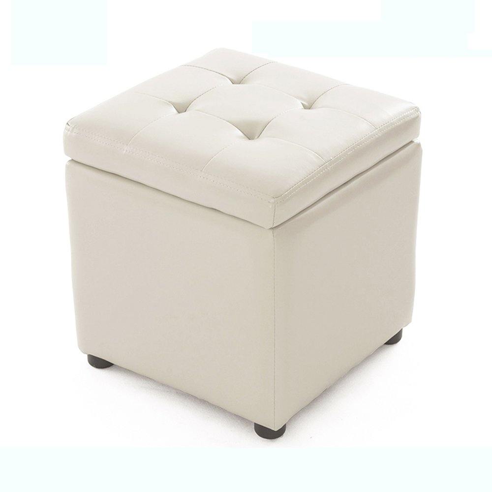 Artificial Leather stool, for Shoe stool, pier Son, Hall Sofa stool, Storage stool,stool, Footstool, Small stool (Size : 34 * 34 * 36cm) YI LU US