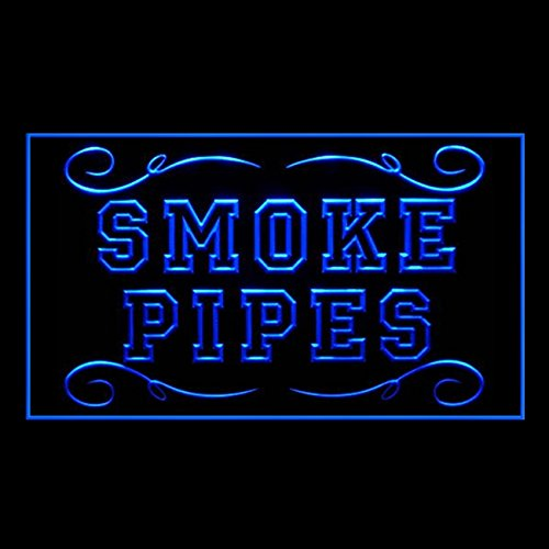 Smoke Pipes Filler Vintage Habit Collection Smoker Lounge LED Light Sign 200127 Color Blue - Vintage Smokers