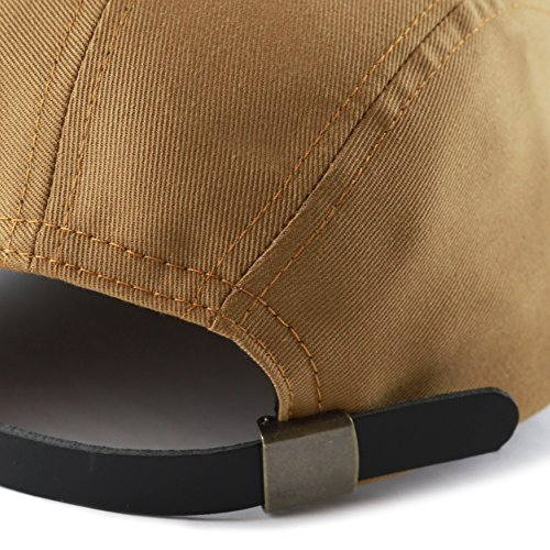 The Hat Depot Exclusive Made in USA Cotton 5 Panel Unstructured Outdoor Cap (Timber)