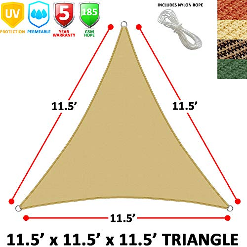 Modern Home Sail Shade Triangle 11.5 Sides