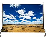 LYLYCTY 10×7ft Polyester Photography Backdrop Land Blue Sky Cloud Computer Printed Scenic Nature Backgrounds for Photo Studio 107-365