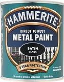 Hammerite SATBL750 750ml Direct to Rust Satin Finish - Black