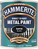 Hammerite SATBL750 750ml Direct to Rust Satin Finish - Black