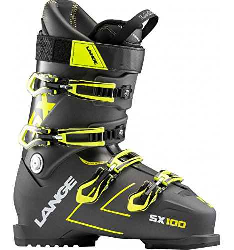 Lange SX 100 Ski Boots Mens Anthracite/Yellow Sz 9.5 (27.5)