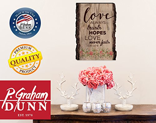 P Graham Dunn Delight Yourself in The Lord Red Poppies 4 x 6 Wood Bark Edge Design Sign