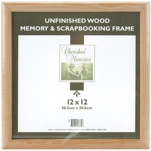 Darice 12x12 Unfinished Memory Frame