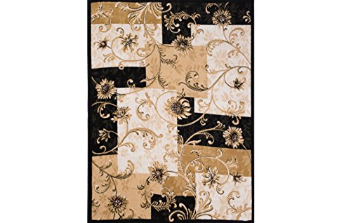 Home Dynamix Optimum – Quality Contemporary Modern Area Rug 3'7 x 5'2, Black & Ivory