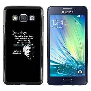 TopCaseStore / la caja del caucho duro de la cubierta de protección de la piel - Quote Science Scientist - Samsung Galaxy A3 SM-A300