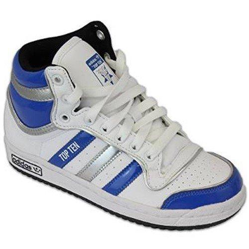 3eef72b2d0166 ADIDAS Originali Top Ten Alte bambino scarpe Sneaker bianco blu argento  Nuovo - bianche