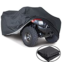 VVHOOY All Weather Protection Waterproof Heavy Duty ATV Cover Black Universal Size Protects 4 Wheeler From Snow Rain or Sun(100x43x47in,XXXL)