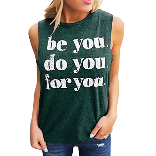 Buffalo Womens Raglan Hoodie - FEITONG Fashion Womens Casual T Shirts Tees Sleeveless Tank Tops Letter Printing Vest be You do You for You(X-Large,Green)