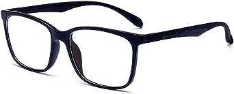 Anrri Blue Light Blocking Glasses For Computer Use Anti Eyestrain Lens Lightweight Frame Eyeglasses Black Men Women Clothing Amazon Com