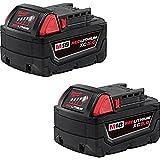 Milwaukee 48-11-1852 M18 REDLITHIUM XC 5.0 Ah Extended Capacity Battery (2 pack)