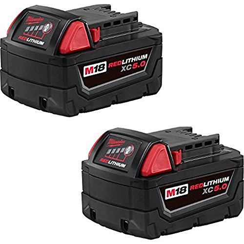 Milwaukee 48-11-1852 M18 REDLITHIUM XC 5.0 Ah Extended Capacity Battery (2 pack) by Milwaukee