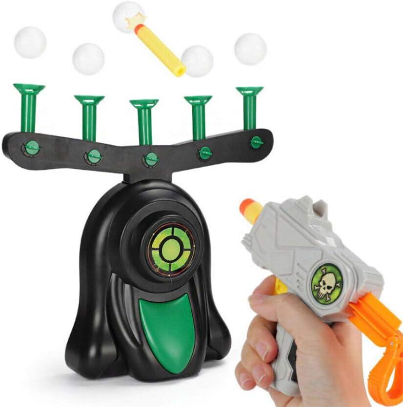 Vavshop Objetivo de Bola de suspensión eléctrica,Hover Shot Juego,Objetivos eléctricos para Disparar, Foam Dart Blaster Shooting Ball Niños Juguetes Regalos (Blanco, OneSize)