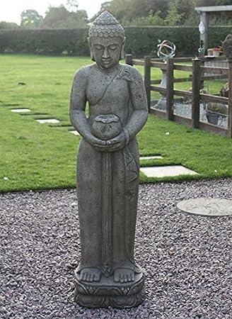 Statues U0026 Sculptures Online Contemplation Standing Buddha Garden Statue