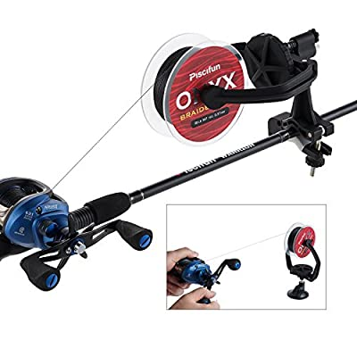 Piscifun New Fishing Line Spooler Portable Spooling Station System Fishing Reel Winder Baitcaster Reel Line Winder