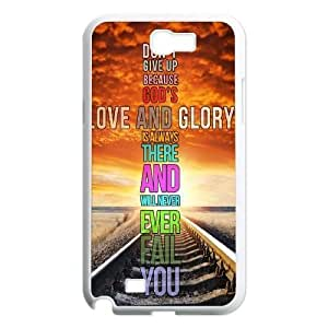 Custom Colorful Case for Samsung Galaxy Note 2 N7100, Never Give Up Cover Case - HL-525235