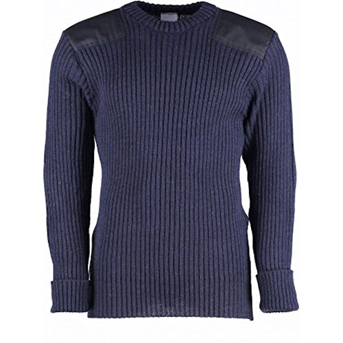 TW Kempton Woolly Pully Crew Neck - Navy - Large by TW Kempton