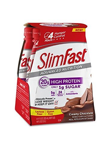 Slim Fast Advanced Nutrition, Meal Replacement Shake, High Protein, Creamy Chocolate, 11 Ounce, 4 Count (Pack of 3) by Slim-Fast