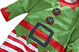 EGELEXY Christmas Outfits Infant Baby Elf Costume Long Sleeve Romper Pants Hat Costume Romper for First Christmas
