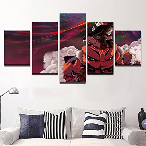 Canvas Painting For Living Room Wall Art Pictures 5 Pieces Anime Cartoon Naruto Characters Poster HD Prints Home Decor (Naruto Cartoon Character)
