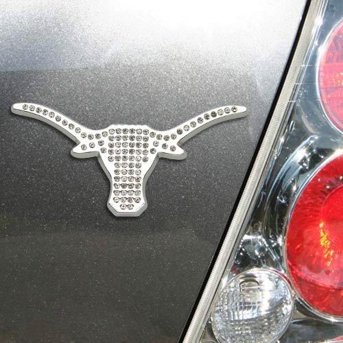 University of Texas Longhorns NCAA College Austrian Crystal & Chrome Plated Premium Metal Car Truck Motorcycle Emblem by Elektroplate