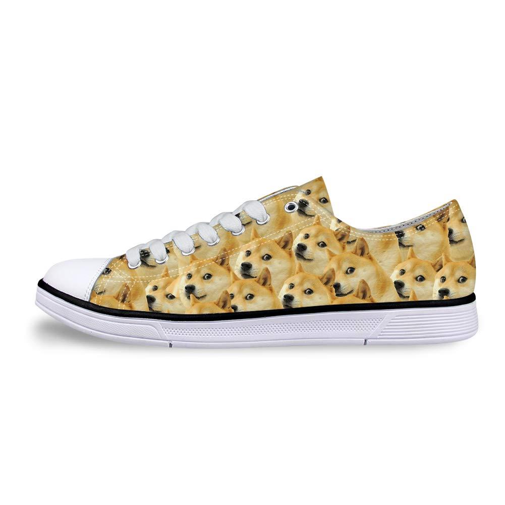 Canvas Low Top Sneaker Casual Skate Shoe Mens Womens Doge Meme Trypophobia