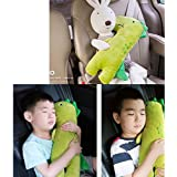 Cute Doll Car Seat Strap Belt Cushion Cover for Kids Children, Adjustable Pillow Pad Vehicle Car Safety Belt Toy Pet…