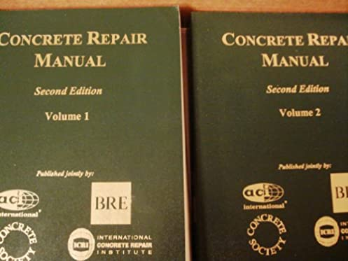 concrete repair manual 2 volumes aci committee 9780870311055 rh amazon com concrete repair manual txdot concrete repair manual pdf