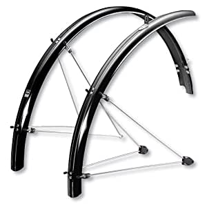 SKS P55 Chromoplastic Bicycle Fender Set (26x1.6-2.1 Tires, Black)