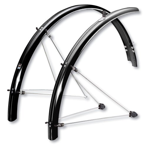 SKS P65 Chromoplastic Bicycle Fender Set (26x2.1-2.35  Tires, Black)