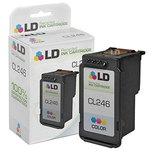 LD Remanufactured Canon CL-246 / 8281B001AA Color Inkjet Cartridge for Canon PIXMA iP2820, MG2420, MG2520, MG2920, MG2922, MG2924, MX490, and MX492 Printers - Empty Color Inkjet