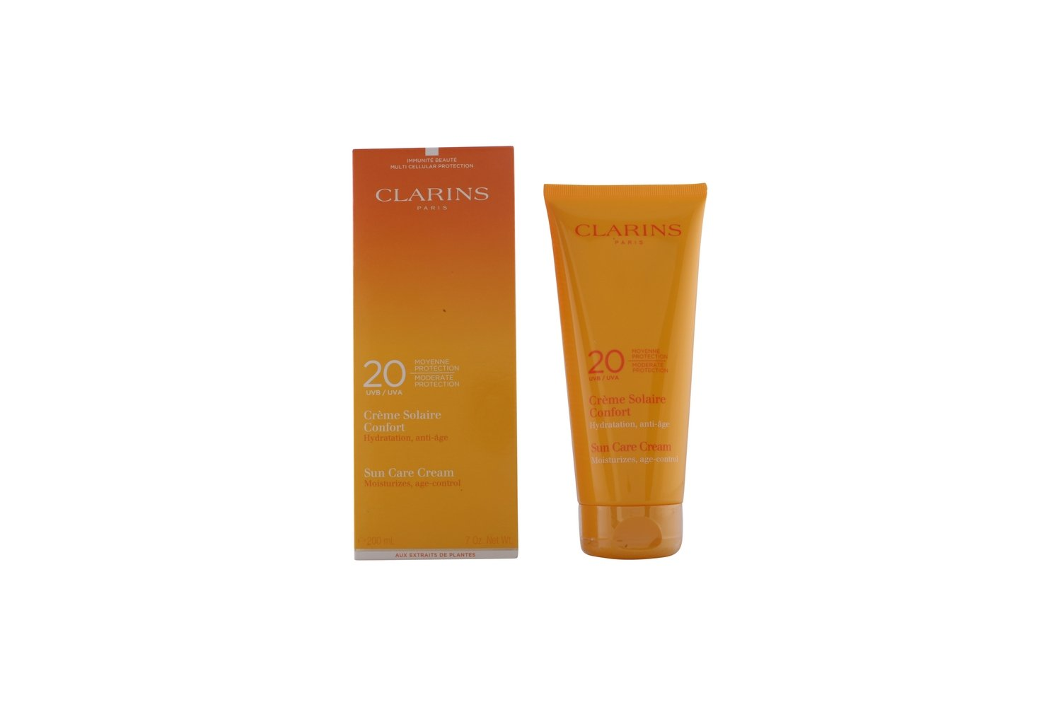 Claire Sun Care Cream Moderate Protection UVB/UVA 20, 200 ml