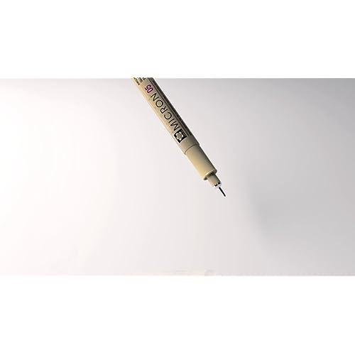 Sakura 50039 6-Piece Pigma Micron-08 Ink Pen Set Black 0.50mm