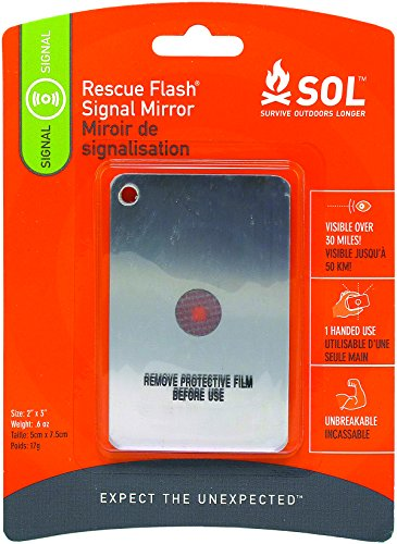 S.O.L. Survive Outdoors Longer Rescue Flash Mirror, Pack of 2 ()