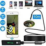 Wifi Endoscope Inspection Camera, Prostormer 2.0 MP 1200P HD IP68 Waterproof Wireless Borescope Camera in Soft Cable for Android, IOS and Windows System, iPhone, Samsung, Macbook, Tablet (33FT)