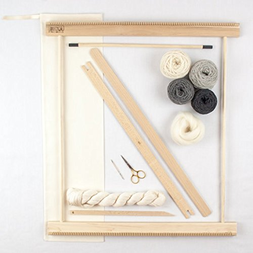 Beka 20'' FRAME LOOM WEAVING KIT /EVERYTHING YOU NEED TO MAKE YOUR OWN WOVEN WALL HANGING - GRAY by Beka