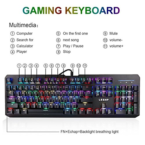 51%2BHnSU7OQL - Mechanical-Gaming-Keyboard-Elepawl-USB-Wired-RGB-Backlit-Keyboard-Full-Size-104-Key-for-PC-Computer-Laptop-Office-Blue-Switches