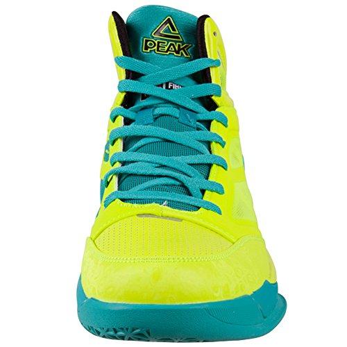 Piek Mens Fiba Serie Speed Eagle Basketbalschoenen Fluorescerend Geel