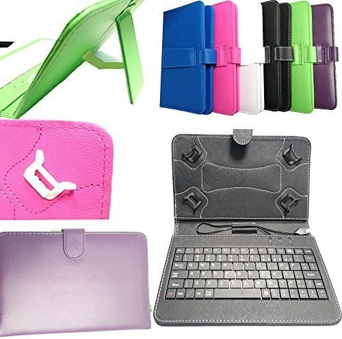 DYYSELLS 7 Key GREEN-09 Keyboard Folio Case in White for Huawei MediaPad X2 T1 8.0 and 7 Youth