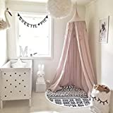 Hoomall Mosquito Net Bed Canopy Cotton Canvas Round Dome...