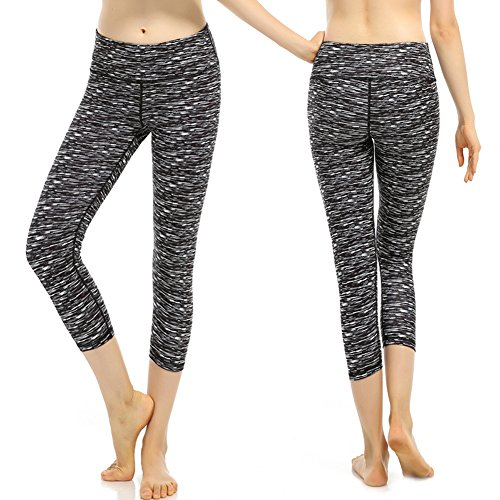 Pantalones de Yoga Mujer Pantalones de Secado Rápido Pantalones Deportivos para Running Gym Fitness Exercise negro