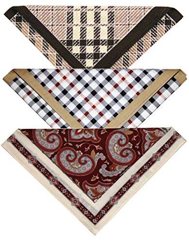Mouchoir de poche en coton - Paquet de 3 modèles (Classics)