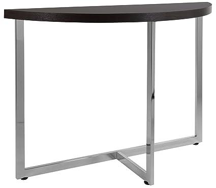 Monarch Metal Sofa Console Table, Cappuccino/Chrome