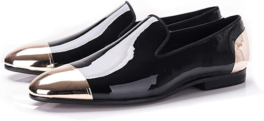 Patent Leather Men Handmade Shoes