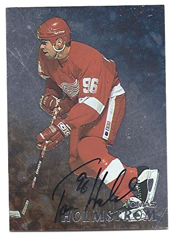 - TOMAS HOLMSTROM 1998-99 Be A Player #196 BAP PARALLEL AUTOGRAPH Card Detroit Red Wings Hockey