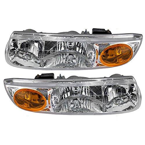 Driver and Passenger Headlights Headlamps Replacement for Saturn 21112455 21112456 - Replacement Headlight Sl2 Saturn